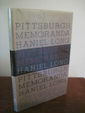 1st Edition PITTSBURGH MEMORANDA Haniel Long FIRST PRINTING Poetry POEMS