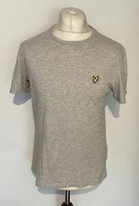 Lyle & Scott Men's T Shirt Grey Medium 100% Cotton Short Sleeve