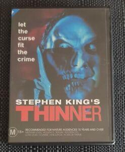 THINNER ( STEPHEN KING ) REGION 4 DVD. CHEAPEST START BID !! SEE DESCRIPTION.