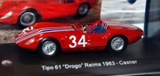 "DIE CAST "" TIPO 61 DROGO REIMS 1963 CASNER "" MASERATI 100 YEARS SCALA 1/43"