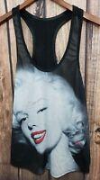 NWOT DESIRE 44  Marilyn Monroe XLarge Black White Tank Top  Rare A1