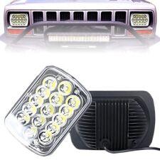 "7X6"" 5X7"" LED Headlight Hi-Lo Beam Spot Lamp For Jeep Cherokee YJ Truck GMC Ford"