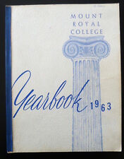 Vintage Mount Royal College Yearbook 1963 Calgary Alberta Canada +2 Alumni News