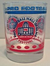 Vintage Pro Football Hall of Fame Festival Hard to Fine Blue and Red Glass