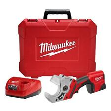 Cordless Compact PVC Shear Kit Lithium Ion 12 Volt Power Tool Pipe Cutter Case