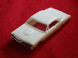 New MoDEL MoToRING 67 White Pontiac GTO T-jet HO Scale Slot Car Body Aurora RRR