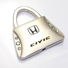 Honda Civic Logo Metal Purse Shape Crystal Diamond Bling Key Chain Ring