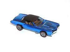 1968 Hot Wheels Redline Custom Eldorado AWESOME BLU YR1 KEEPER w CRAZY OVERSPRAY