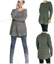 Geometrische Damen-Pullover & -Strickware aus Wolle mit Reißverschluss