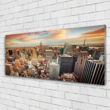 Glasbilder Wandbild Druck auf Glas 125x50 Stadt Gebäude