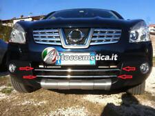 2 Cornici in acciaio cromo paraurto anteriore Nissan Qashqai qashqai 2007-2009