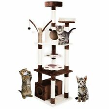 """72"""" Cat Tree Tower Condo Furniture Kitty Bed Pet Play House Scratching Tower"""