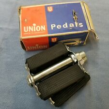 "NOS Vintage Union 9/16"" Reflector Bicycle Pedals to fit Raleigh Tourist, Schwinn"