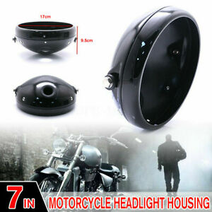 7 inch Motorcycle Headlight Housing Aluminum Headlamp Cover Shell Bowl Mounting