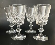 """Set Of 4 Hawkes Thames 6 3/4"""" Diamond Cut Crystal  Water Goblets"""