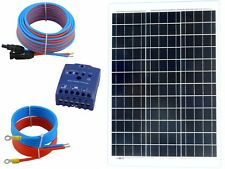 50 Watt 12Volt Solar Set Solaranlage Inselanlage Garten Camping Solarmodul Poly