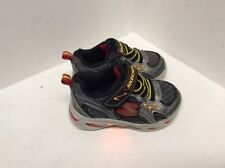 Baby boy tennis shoes toddler sz 6 back red yellow leather lights Skechers F24