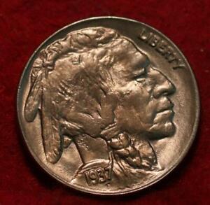 Uncirculated 1937-D  Denver Mint Buffalo Nickel