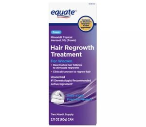 Women's Hair Regrowth Treatment 5% Foam 2-month supply Equate Exp 11/22