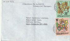 1976 Guyana cover to Oldbury, West Midlands