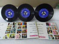 Lote de 3 vinilos EP 45 rpm Paquito Jerez  discos vintage