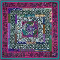 "Women's Twill Silk Square Scarves Vintage Floral Print Large Shawl Wraps 51""*51"""