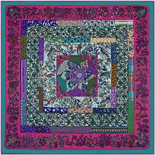 "Women's Twill Silk Square Scarves Vintage Floral Print Big Shawl Wraps  51""*51"""