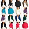 Ladies 3/4 Sleeve Bolero Sweater Jacket Womens Shrug Cardigan S-XXL ac1122