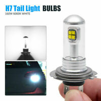 2x H7 LED 160W 1500Lm Coche Headlight Kits Luz bombillas LED de cola 6000K IP68