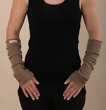 """Armstulpen """"Elli"""", mit oder ohne Daumenloch, 100% Cashmere, Strick, nussbraun"""
