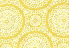 Richloom Fabric  Keltici Mimosa Gold  White  Outdoor  Geometric Print