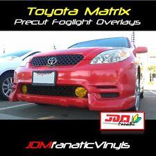 03-08 Matrix TRD Fog light JDM Yellow Overlays TINT Kit Precut wrap covers