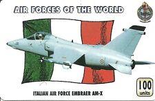 RARE / CARTE TELEPHONIQUE - AVION DE CHASSE ITALIE AIR FORCE EMBRAER AM / PAPIER