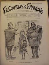 LE COURRIER FRANCAIS 1901 N 8 DESSIN DE WILLETTE