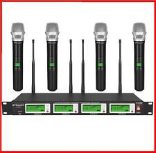 GTD Audio 4x800 Channal UHF Diversity Wireless Microphone Mic System 787H