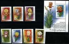2002. Uzbekistan. FLORA. Iris Varieties. S/sheet+set. MNH. Sc.341-347, 348