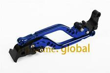 Long Blue CNC Clutch Brake Levers For YAMAHA YZF R6 2003 2000 2001 2002 2004