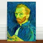 Vincent Van Gogh Self Portrait in Blue ~ FINE ART CANVAS PRINT 8x12""