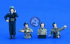 Verlinden 1/35 German Waffen-SS Tiger Tank Crew WWII (4 Figures) [Resin] 2090