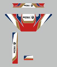 Birel Micro Max Estilo Europeo Rotax Radiador Kit De Etiquetas-Karting