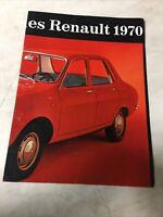 Renault 1970 R4 R6 R8 R10 R12 R16 catalogue prospectus brochure dépliant