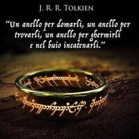 Signore degli Anelli Oro anello Nuovo Acciaio Moderno Speciale Inossidabile tn