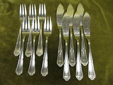 6 couverts à poisson métal argenté régence Frionnet Haviland (fish forks knives)