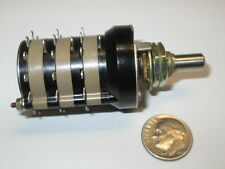"""GRAYHILL ROTARY SWITCH  SERIES 44D  3 POLE - 12  POSITIONS (BBM) 1 1/8"""" OD NOS"""