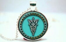 The Lord of the Rings - Elf Symbol Arwen Evenstar - Photo Glass Necklace Pendant