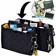 2 Kangaroo Keeper Black Bag Handbag Purse Travel Organiser Storage Tidy Hand New