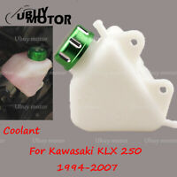 Motorcycle Radiator Coolant Overflow Tank Reservoir for Kawasaki KLX250 94-07