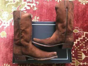 NEW Men's Lucchese Canyon Brown Suede Western boot, Made in USA, Size 11D