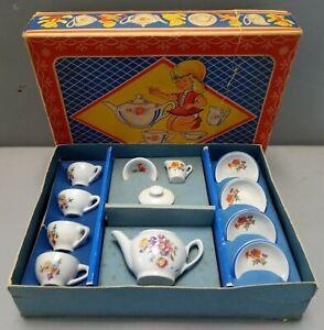 Vintage Childrens 12 piece China Miniature Tea Set