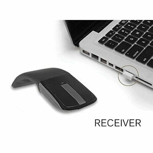 2.4Ghz Foldable Wireless Bluetooth Mouse Optical ARC Touch Computer Mice For PC